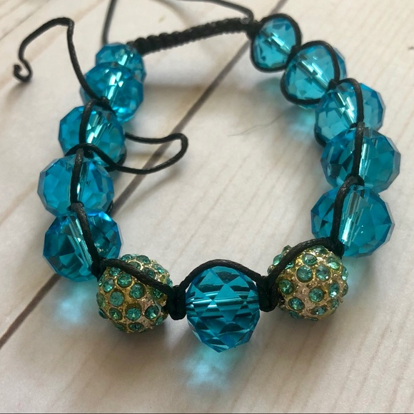 Jewelry Blue Beaded Bracelet Shamballa Poshmark